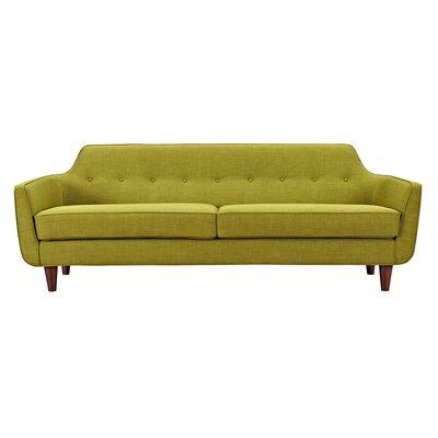 Agna Sofa Upholstery: Avocado Green, Finish: Walnut