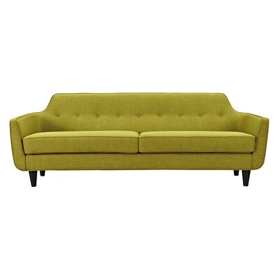 Agna Sofa Upholstery: Avocado Green, Finish: Black