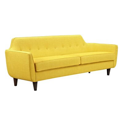 Agna Sofa Upholstery: Papaya Yellow, Finish: Black