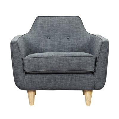 Agna Armchair Upholstery: Charcoal Gray, Finish: Natural