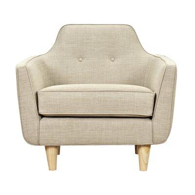 Agna Armchair Upholstery: Light Sand, Finish: Natural