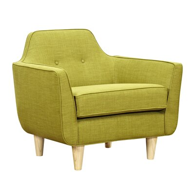 Agna Arm Chair Upholstery: Avocado Green, Finish: Natural