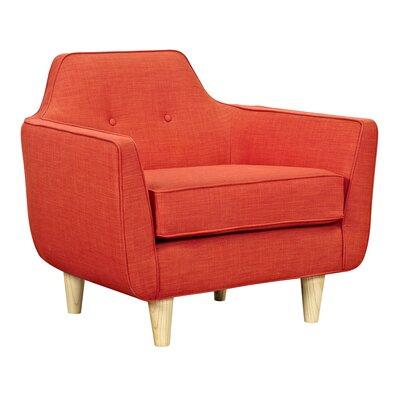 Agna Armchair Upholstery: Retro Orange, Finish: Natural