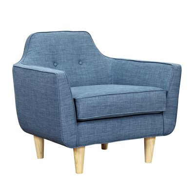 Agna Armchair Upholstery: Stone Blue, Finish: Natural