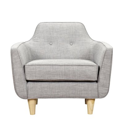Agna Armchair Upholstery: Aluminium Gray, Finish: Natural