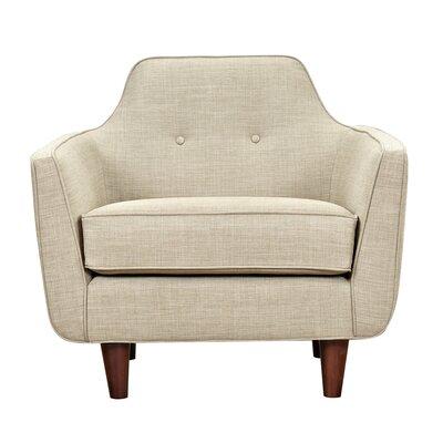 Agna Armchair Upholstery: Light Sand, Finish: Walnut