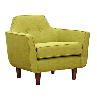 Agna Armchair Upholstery: Avocado Green, Finish: Walnut