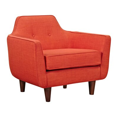 Agna Armchair Upholstery: Retro Orange, Finish: Walnut
