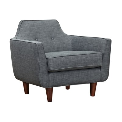 Agna Armchair Upholstery: Charcoal Gray, Finish: Walnut