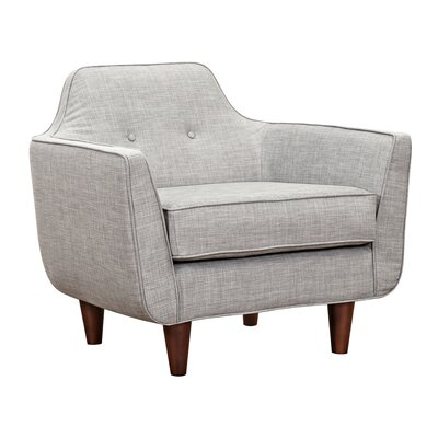 Agna Armchair Upholstery: Aluminium Gray, Finish: Walnut