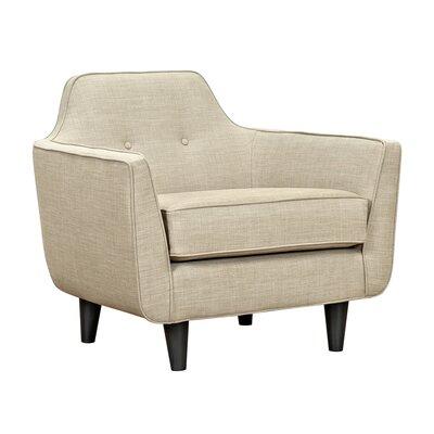 Agna Armchair Upholstery: Light Sand, Finish: Black