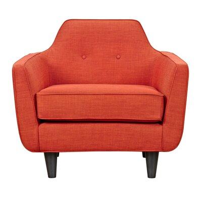Agna Armchair Upholstery: Retro Orange, Finish: Black