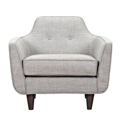 Agna Armchair Upholstery: Aluminium Gray, Finish: Black