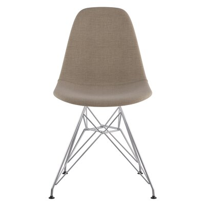 Eiffel Side Chair Upholstery: Light Sand, Finish: Brushed Nickel