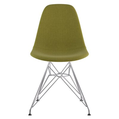 Eiffel Side Chair Upholstery: Avocado Green, Finish: Brushed Nickel