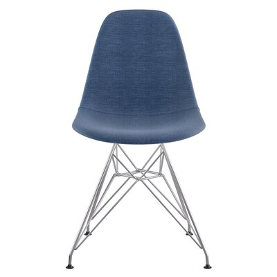 Eiffel Side Chair Upholstery: Dodger Blue, Finish: Brushed Nickel