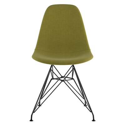 Eiffel Side Chair Upholstery: Avocado Green, Finish: Brushed Gunmetal