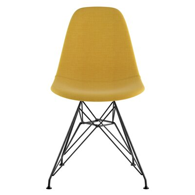 Eiffel Side Chair Upholstery: Papaya Yellow, Finish: Brushed Gunmetal