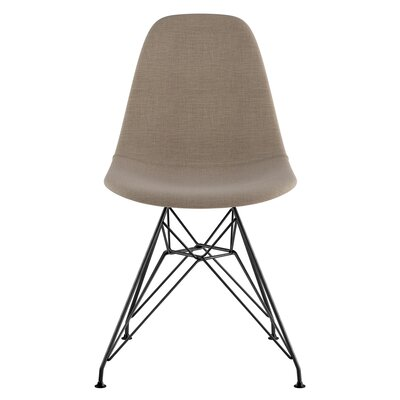 Eiffel Side Chair Upholstery: Light Sand, Finish: Brushed Gunmetal