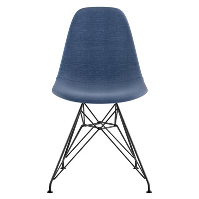 Eiffel Side Chair Upholstery: Dodger Blue, Finish: Brushed Gunmetal