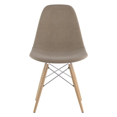 Dowel Side Chair Upholstery: Light Sand, Finish: Natural