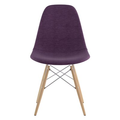 Dowel Side Chair Upholstery: Plum Purple, Finish: Natural