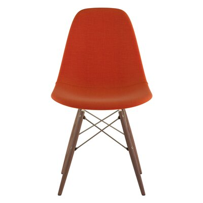Dowel Side Chair Upholstery: Lava Red, Finish: Walnut