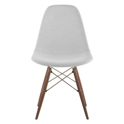 Dowel Side Chair Upholstery: Glacier White, Finish: Walnut