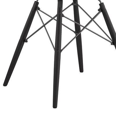 Dowel Arm Chair Upholstery: Mllano Black, Finish: Gunmetal