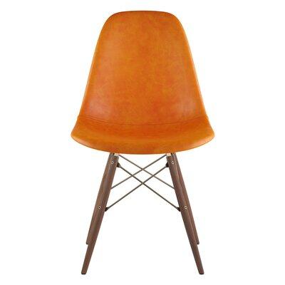 Dowel Side Chair Upholstery: Burnt Orange, Finish: Walnut