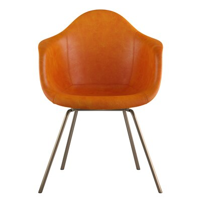 Classroom Arm Chair Seat Color: Burnt Orange, Leg Finish: Brass