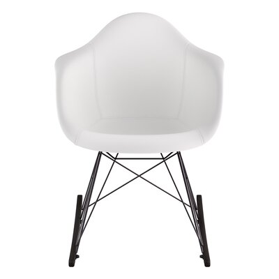 Genuine Leather Upholstered Dining Chair Upholstery: Milano White, Finish: Walnut
