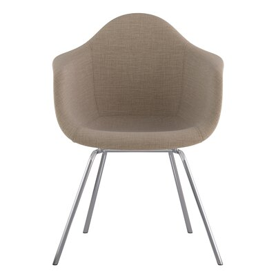 Classroom Arm Chair Upholstery: Light Sand, Finish: Nickel