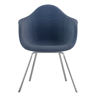 Classroom Arm Chair Upholstery: Dodger Blue, Finish: Nickel