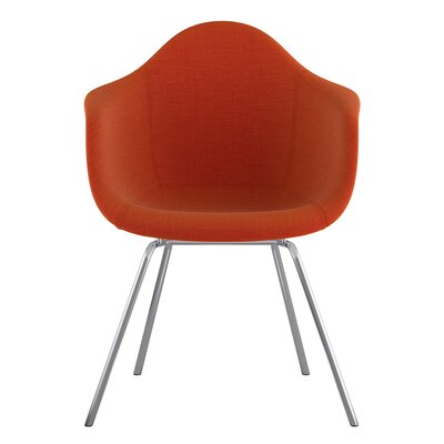 Classroom Arm Chair Upholstery: Lava Red, Finish: Nickel