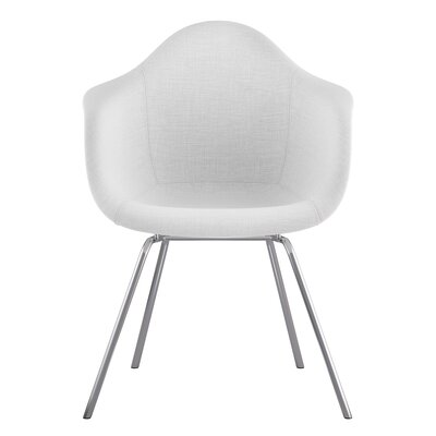 Classroom Arm Chair Upholstery: Glacier White, Finish: Nickel