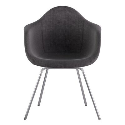 Classroom Arm Chair Upholstery: Charcoal Gray, Finish: Nickel