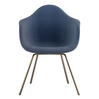 Classroom Arm Chair Upholstery: Dodger Blue, Finish: Brass