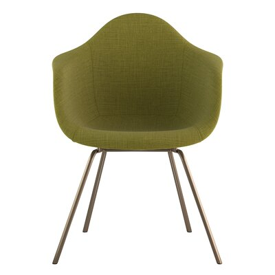 Classroom Arm Chair Upholstery: Avocado Green, Finish: Brass
