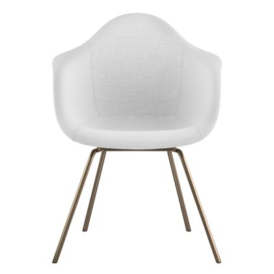 Classroom Arm Chair Upholstery: Glacier White, Finish: Brass