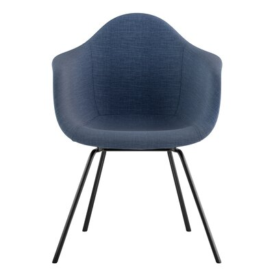 Classroom Arm Chair Upholstery: Dodger Blue, Finish: Gunmetal