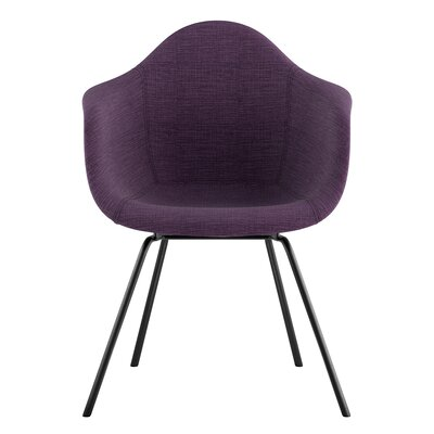 Classroom Arm Chair Upholstery: Plum Purple, Finish: Gunmetal