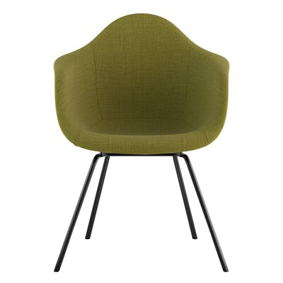 Classroom Arm Chair Upholstery: Avocado Green, Finish: Gunmetal