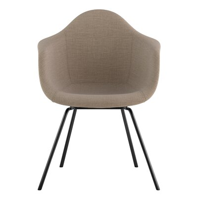 Classroom Arm Chair Upholstery: Light Sand, Finish: Gunmetal