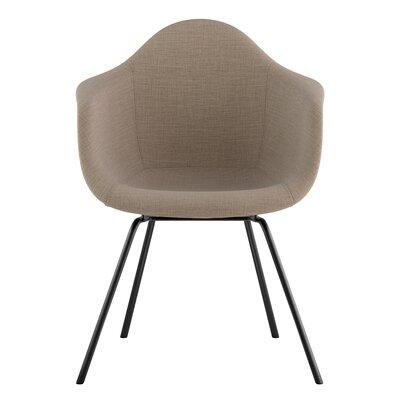 Classroom Arm Chair Upholstery: Light Sand, Finish: Gunmetal