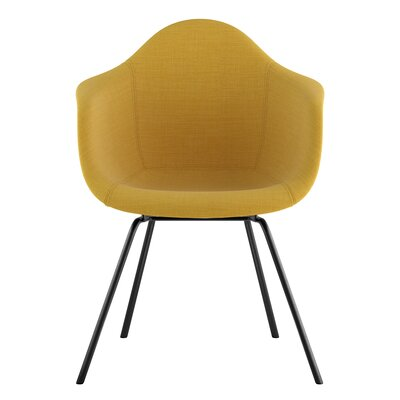 Classroom Arm Chair Upholstery: Papaya Yellow, Finish: Gunmetal