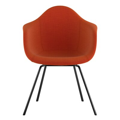 Classroom Arm Chair Upholstery: Lava Red, Finish: Gunmetal