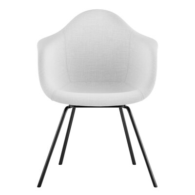 Classroom Arm Chair Upholstery: Glacier White, Finish: Gunmetal