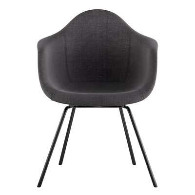 Classroom Arm Chair Upholstery: Charcoal Gray, Finish: Gunmetal