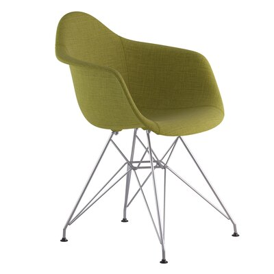 Eiffel Arm Chair Upholstery: Avocado Green, Finish: Nickel